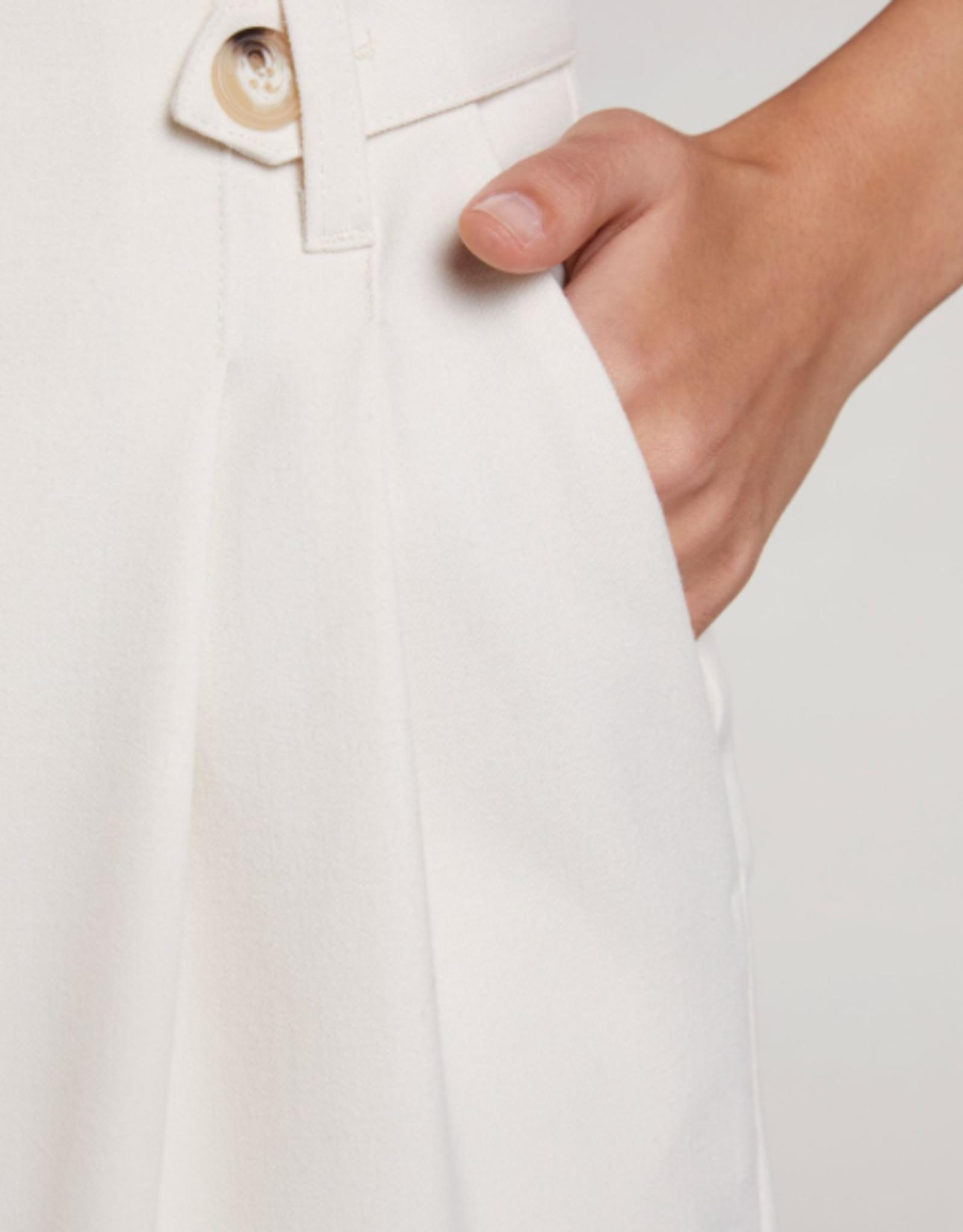 Oui Pantalon Creme Cropped