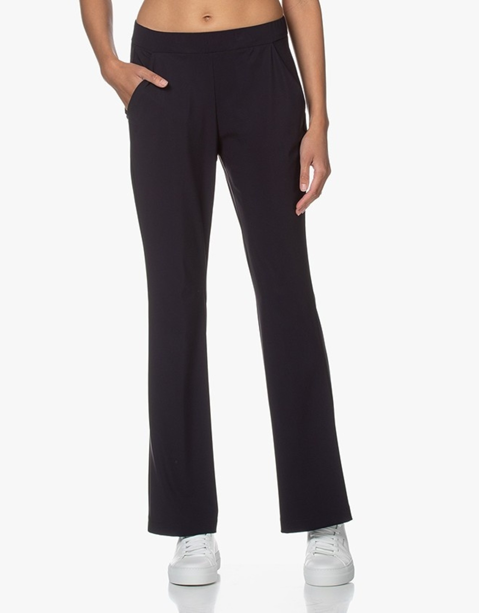 La Salle Flared Trousers Navy