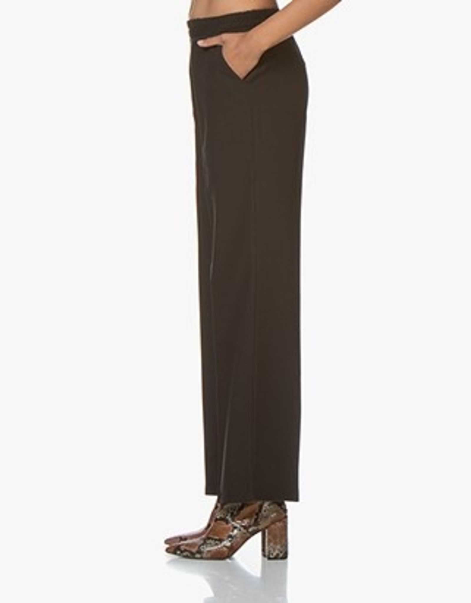 La Salle Flared Trousers Black