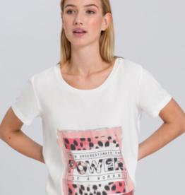 Marc Aurel T shirt Print Front Rosewood
