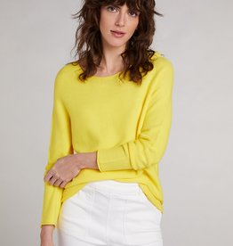 Oui Basis Pullover Geel