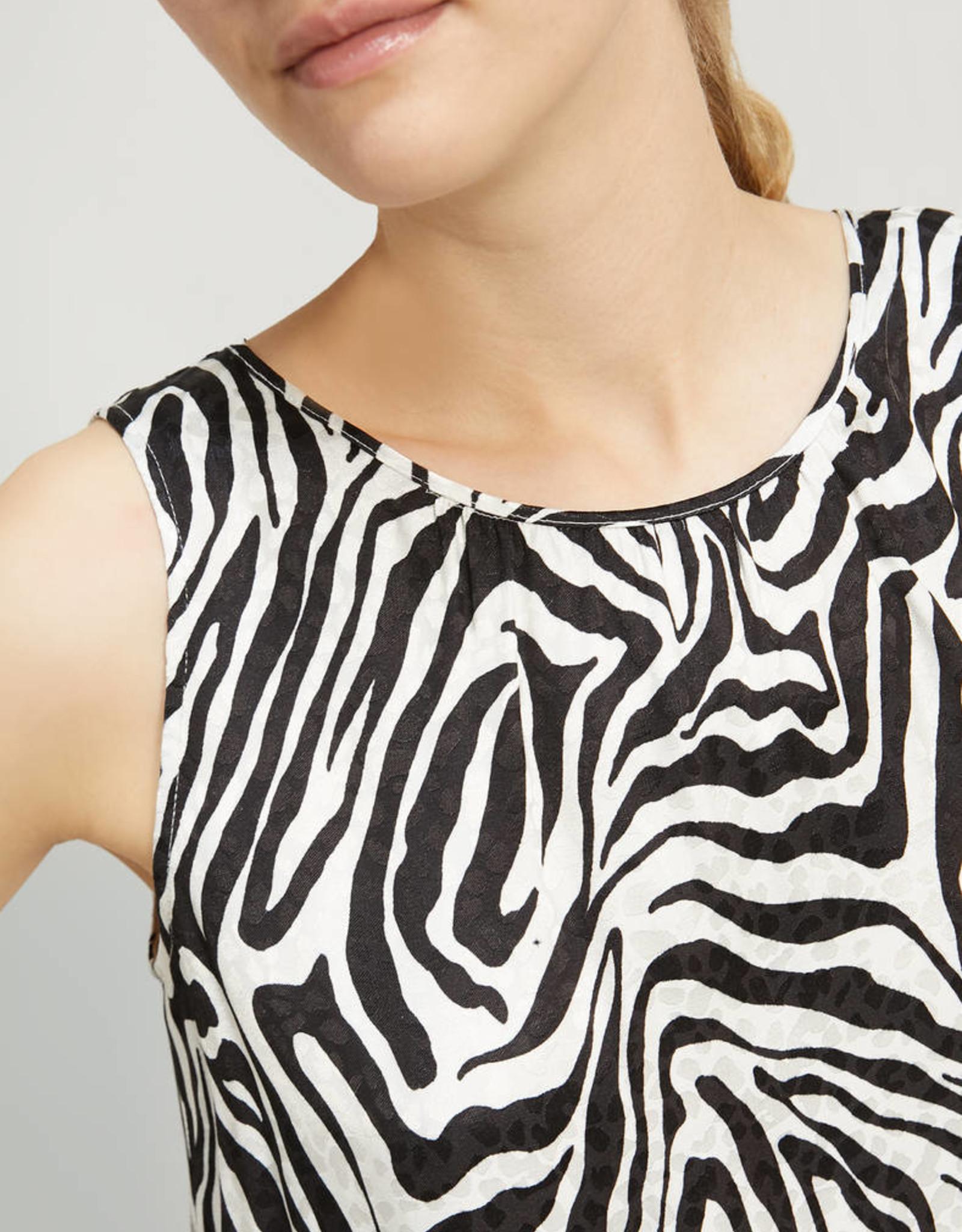 PENNYBLACK Top Zebra Print Black en White