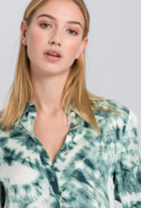 Marc Aurel Blouse  Dark Jade Varied