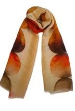 LaSalle Shawl Circels Orange Color Linnen
