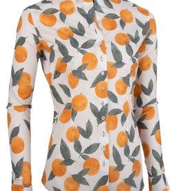 Cavallaro Blouse Cioni Orange Print