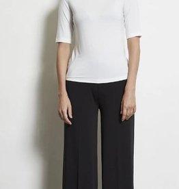 LaSalle Pantalon met wijde pijpen Black