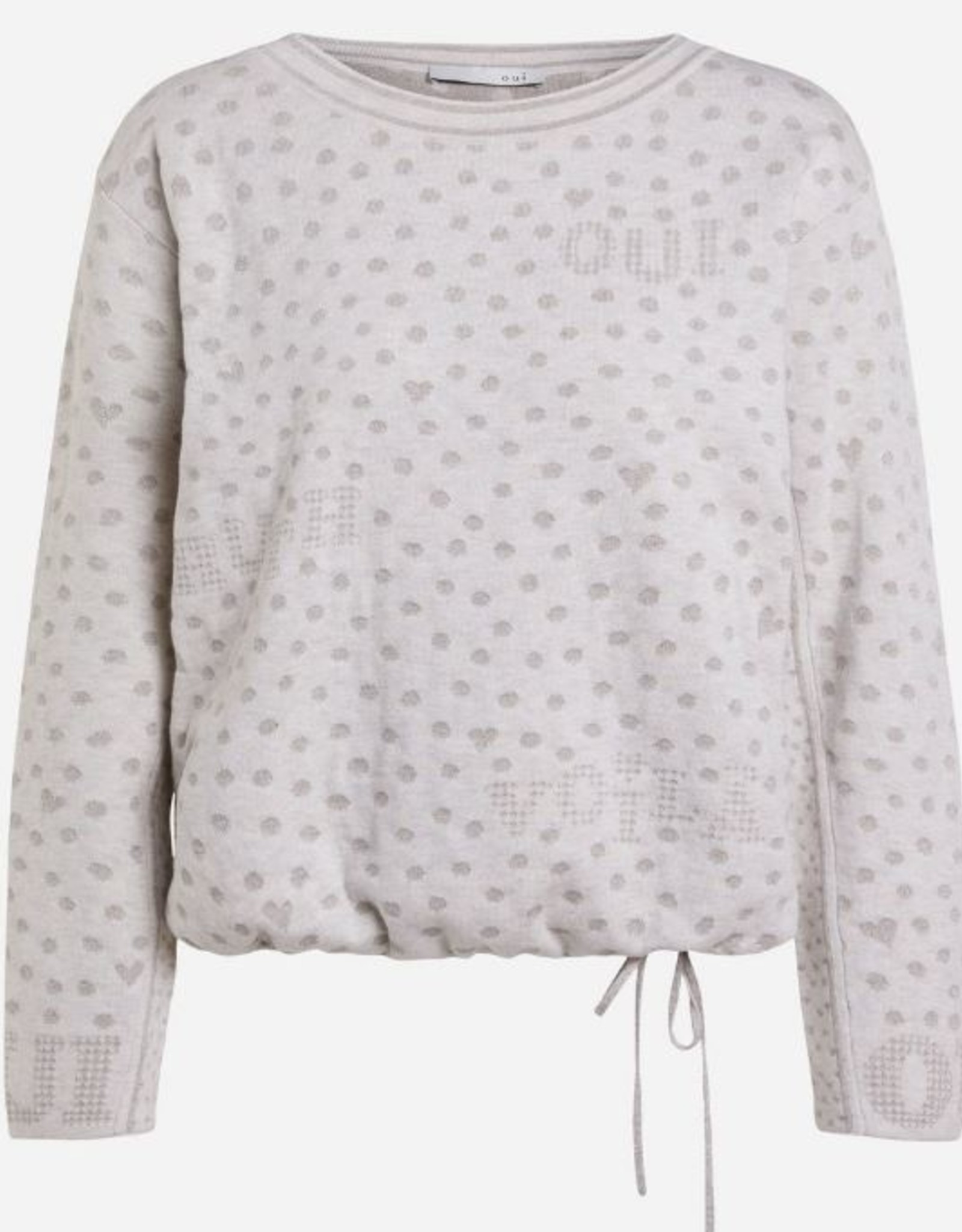 Oui Sweater Grijze Dots