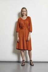 LaSalle Peasant Dress Viscose Burned Orange