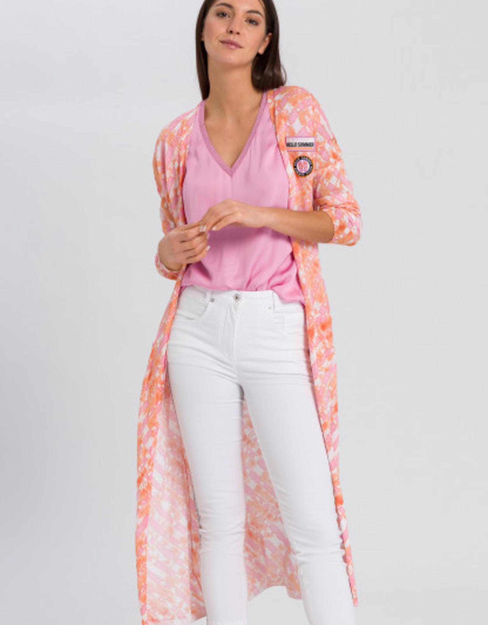 Marc Aurel Vest Lang Pink Varied