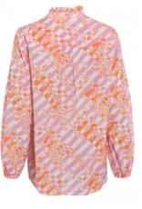 Marc Aurel Blouse All Over Print Pink