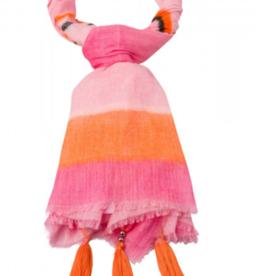 Marc Aurel Shawl Pink Varied