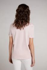 Oui Basis T Shirt V Hals Rose