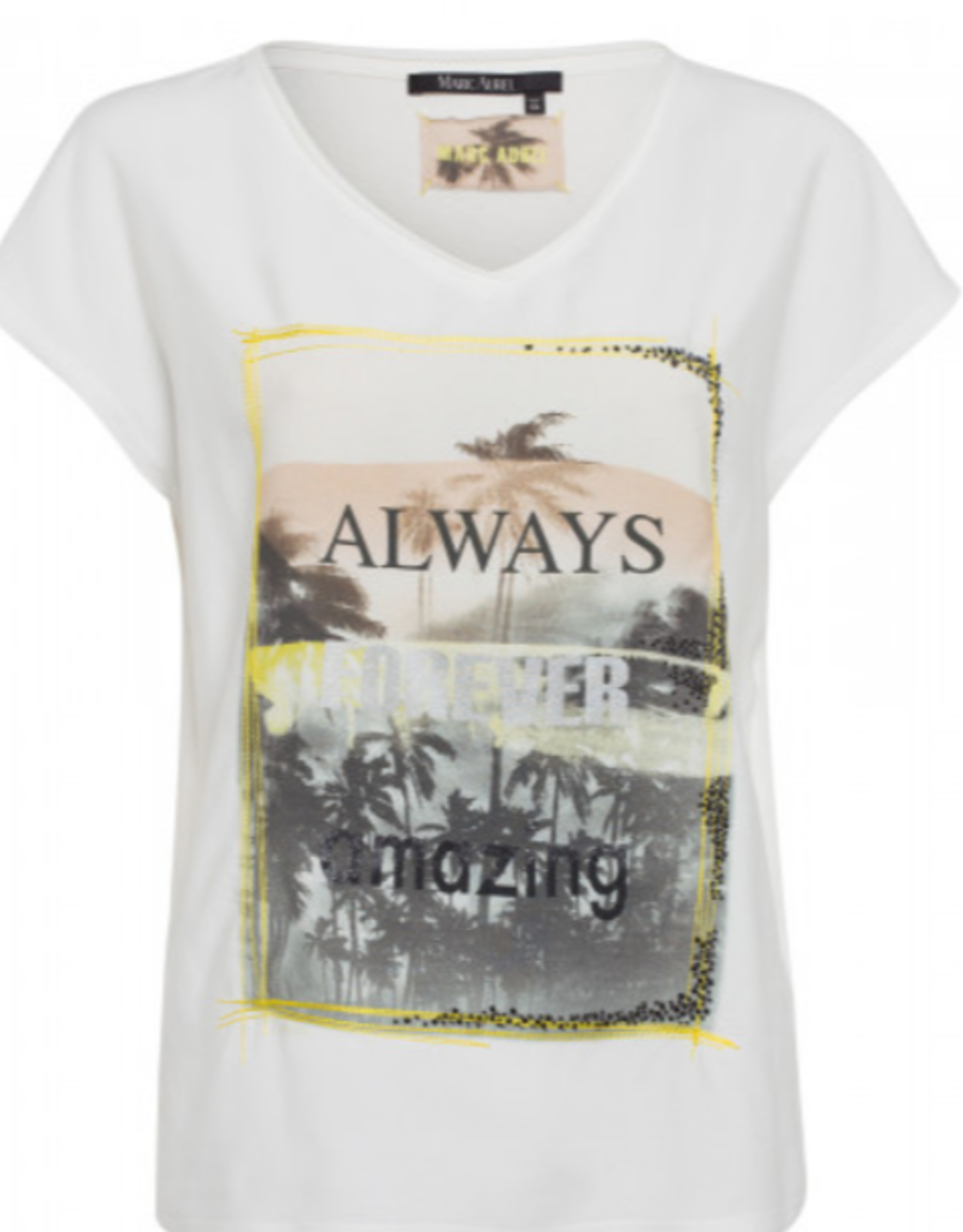 Marc Aurel T-Shirt  Front Print Yellow