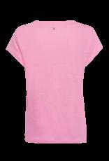 Marc Aurel T-Shirt Linnen V-Hals Licht Rose