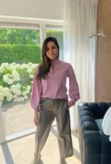 Cambio Pantalon Cleo Fake Leather Walnut