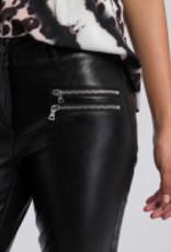 Marc Aurel Pantalon Fake Leather Rits Black