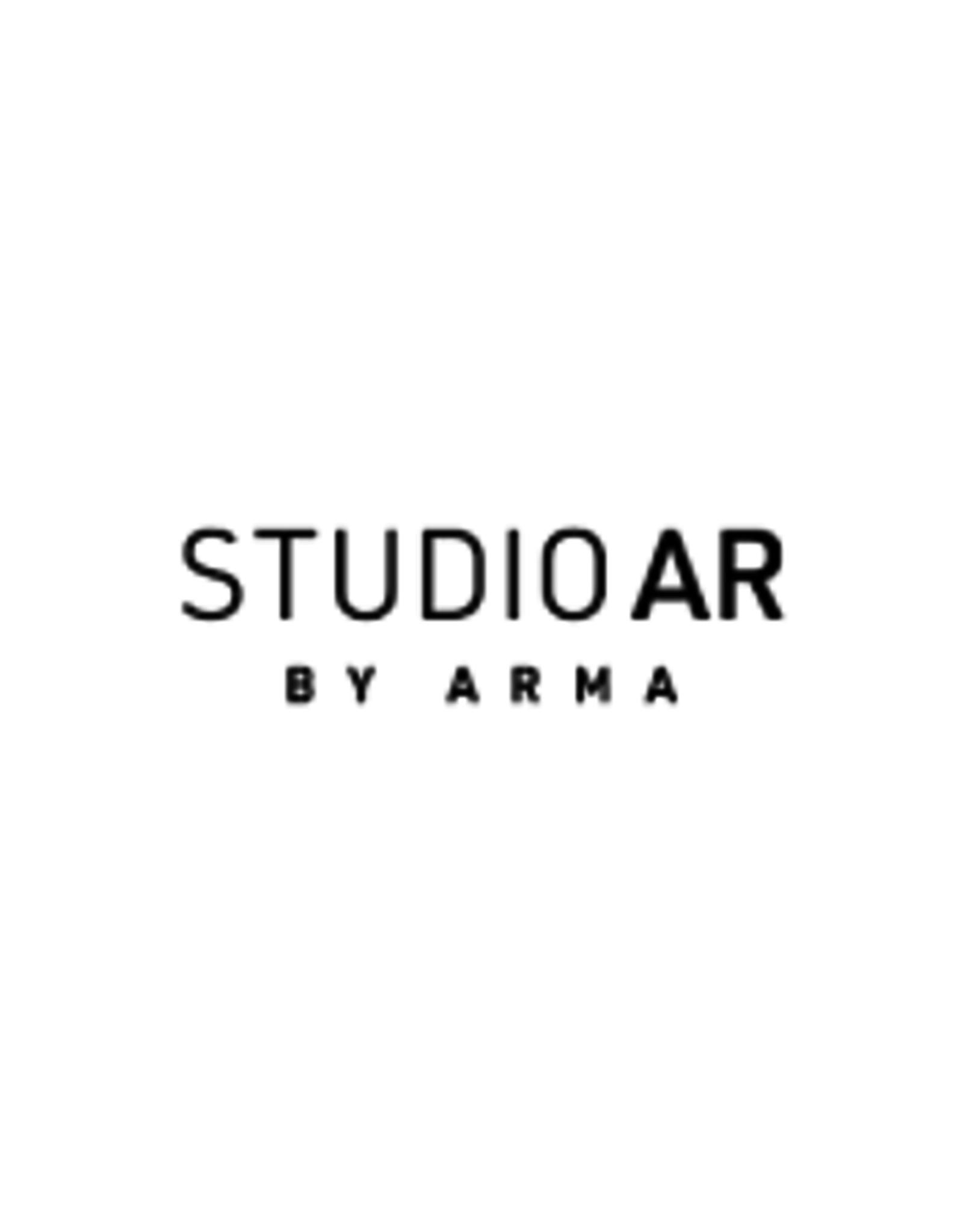 Studio AR Blouse Dita Zwart Leer