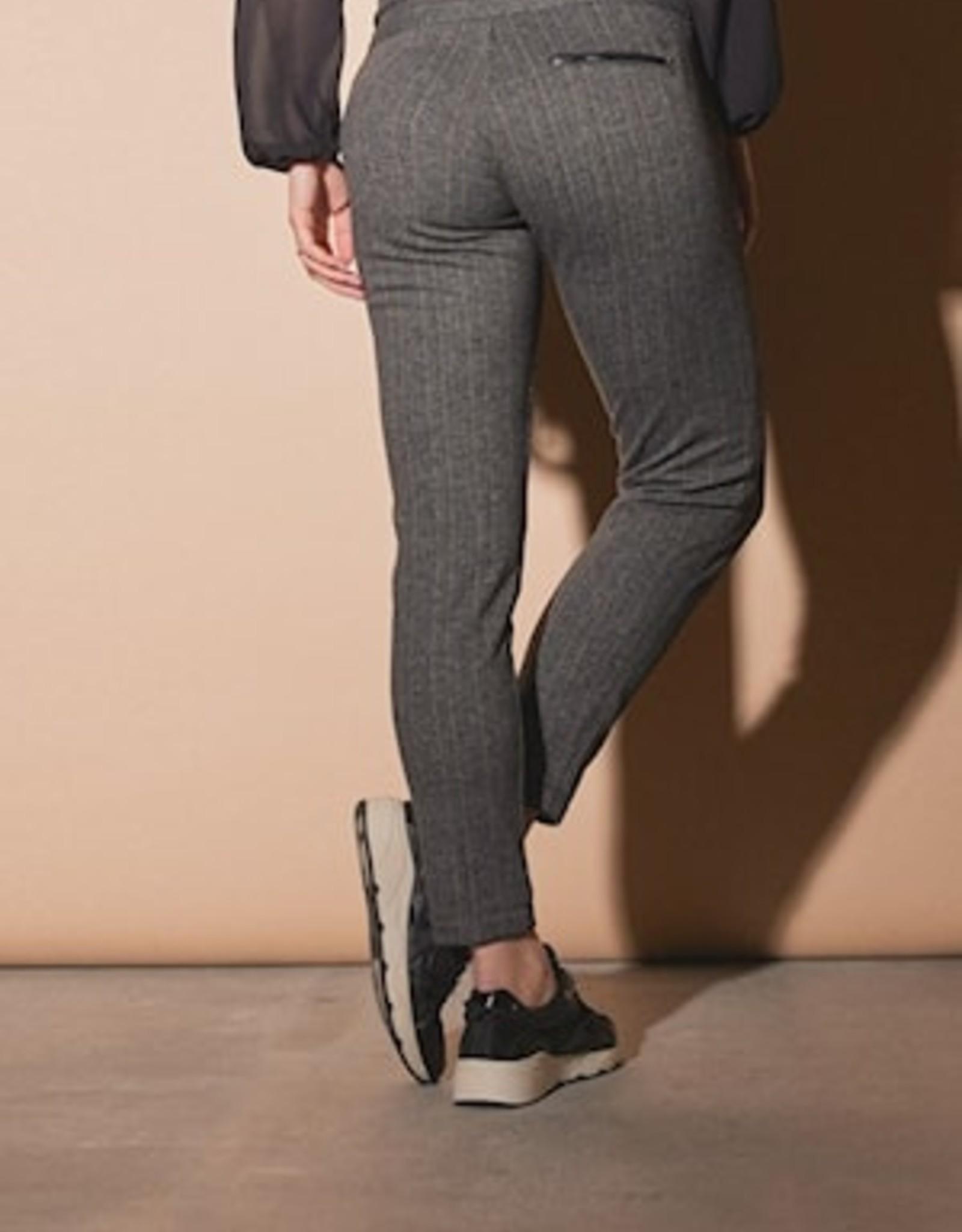 Para MI Pantalon Nova Corboda Heringbone Black