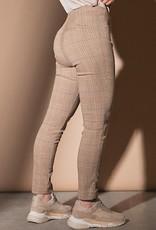 Para MI Pantalon Liv Check Jaquard Marble Beige