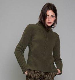 Maria Bellentani Pullover Turtle Kabel Militaire