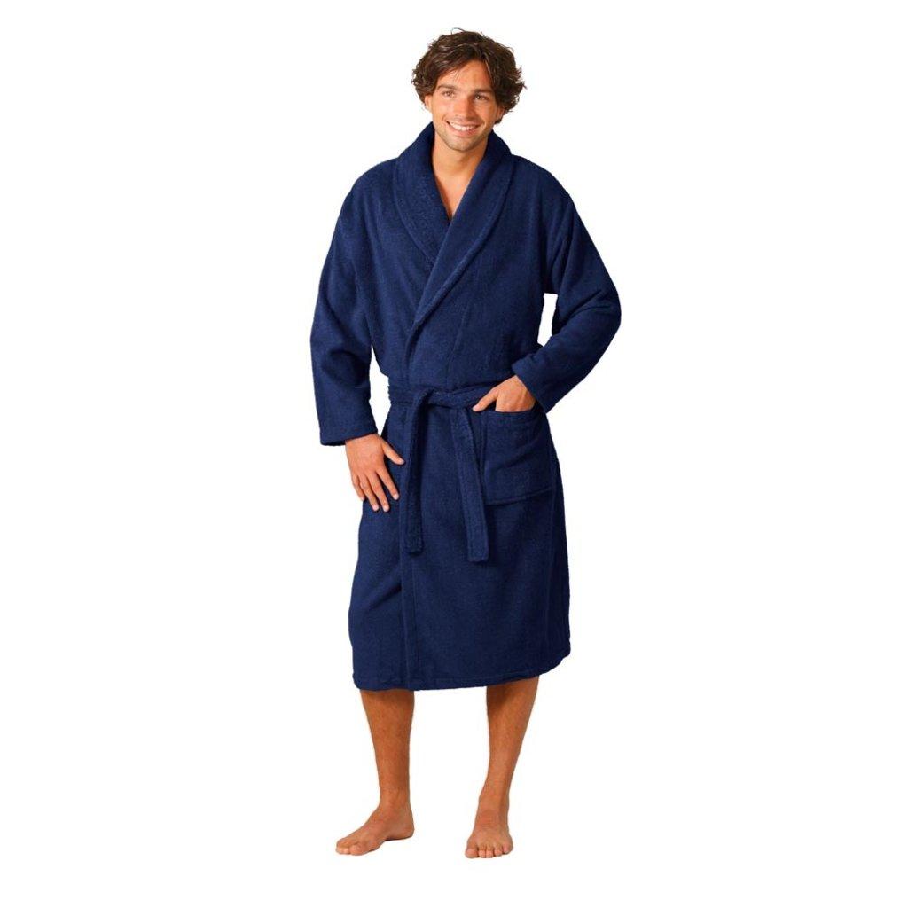 Twentse Damast 100% Katoenen Badjas Alexis - Marineblauw