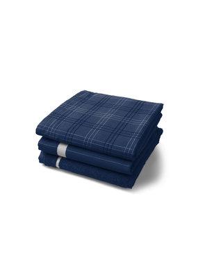 Twentse Damast 100% Katoenen Keukentextiel Mix&Match Marineblauw - 60x65 & 50x55