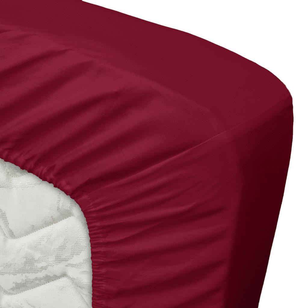Ten Cate Home 100% Katoen Satijnen Hoeslaken - Rood