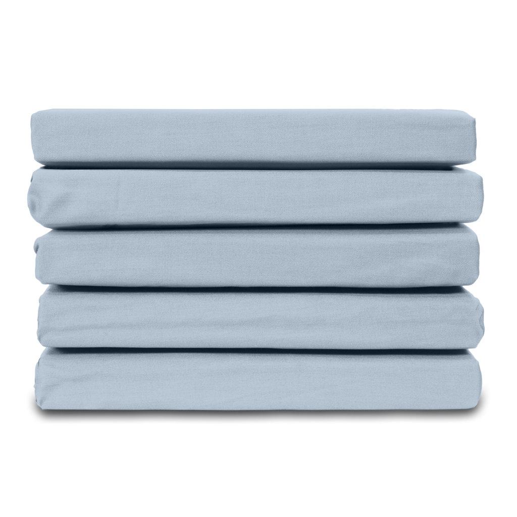 Ten Cate Home 100% Katoen Satijnen Hoeslaken - Lichtblauw