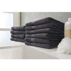 Twentse Damast 100% Katoenen Handdoekenset Antraciet