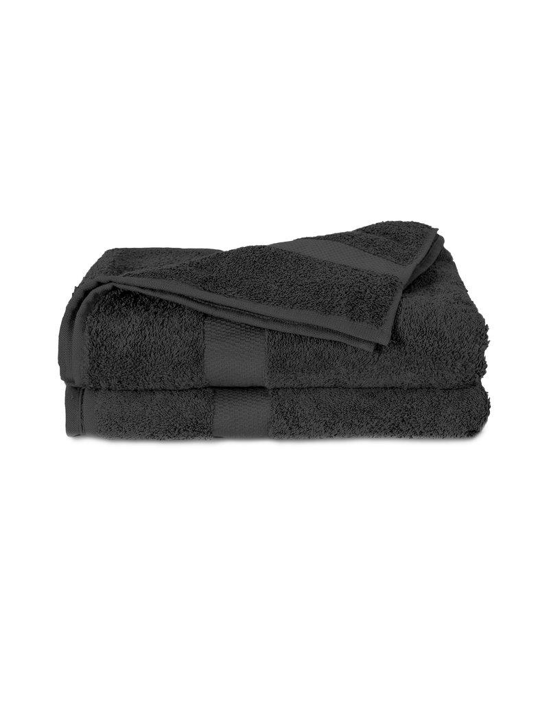 Twentse Damast 100% Katoenen Handdoekenset Zwart