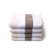 Twentse Damast 100% Katoenen Streep Handdoekenset Beige/Taupe