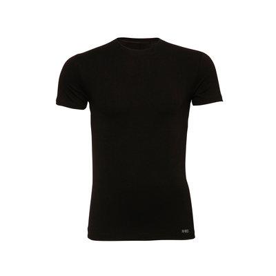 Twentse Damast 2-pack 100% Katoenen T-Shirt O-Hals Zwart