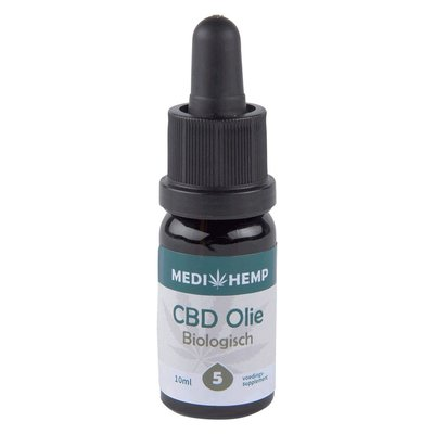 Medihemp Medihemp CBD Olie Puur 5% CBD, 10 ml.
