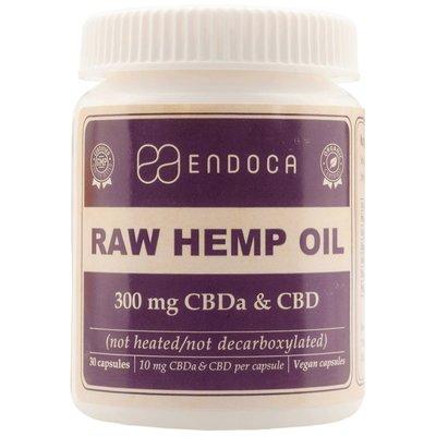 Endoca CBD Capsules Raw 3% CBD, 300 mg