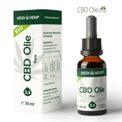 Medihemp CBD Olie Raw 2,5% CBD, 30 ml.