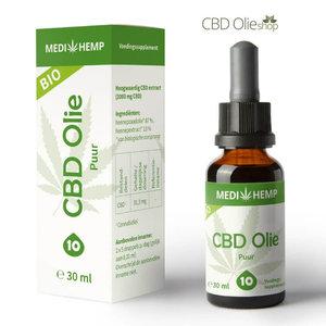 Medihemp CBD Olie Puur 10%  30 ml