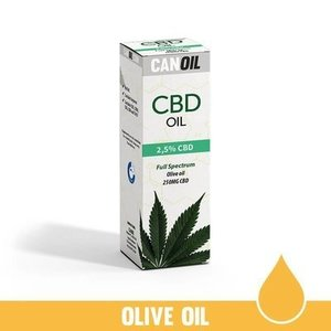 Canoil CBD Olie 2,5% (250 MG) 10ML Full Spectrum  Olijf olie