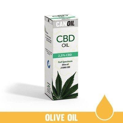 Canoil CBD Olie 2,5% (250 MG) 10ML Full Spectrum  Olijf olie