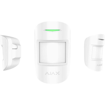 AJAX Draadloze  bewegingsmelder met glasbreukmelder - Wit (AJAX Combiprotect) AJ-COMBI/W