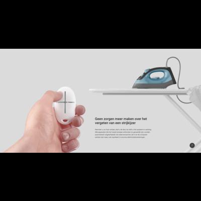 AJAX Draadloze slimme stekker met energie meter - Wit AJ-SOCKET/W