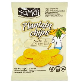 Samai Plantain Chips Garlic 75g