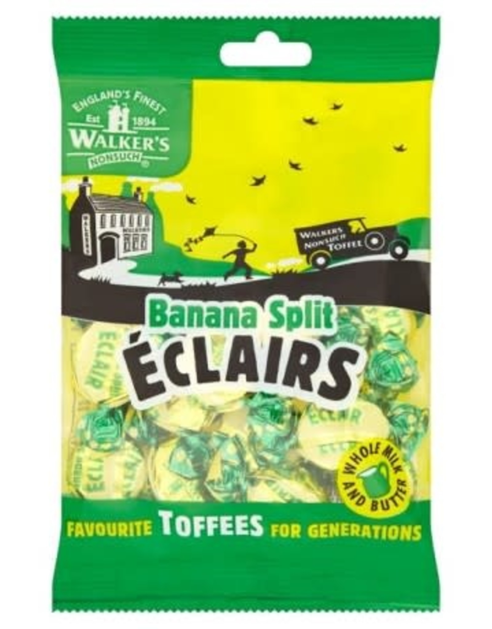 Walker's Walker's Banana Split Eclairs 150g