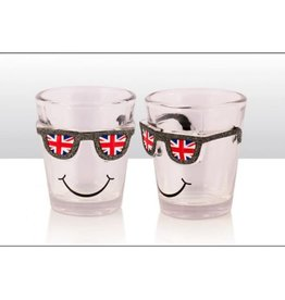 Elgate Union Jack Glitter Sunglasses Shot Glass
