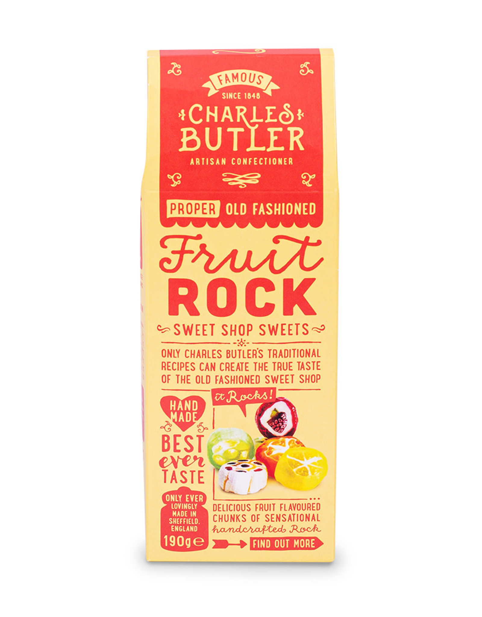 Charlie Butler Fruit Rock Sweets 190 g