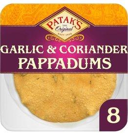 Patak's Copy of Patak's 8 Garlic & Coriander Poppadoms