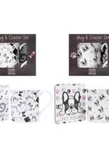 RSW Mug & Coaster Set Crazy Dog / Cat Lady