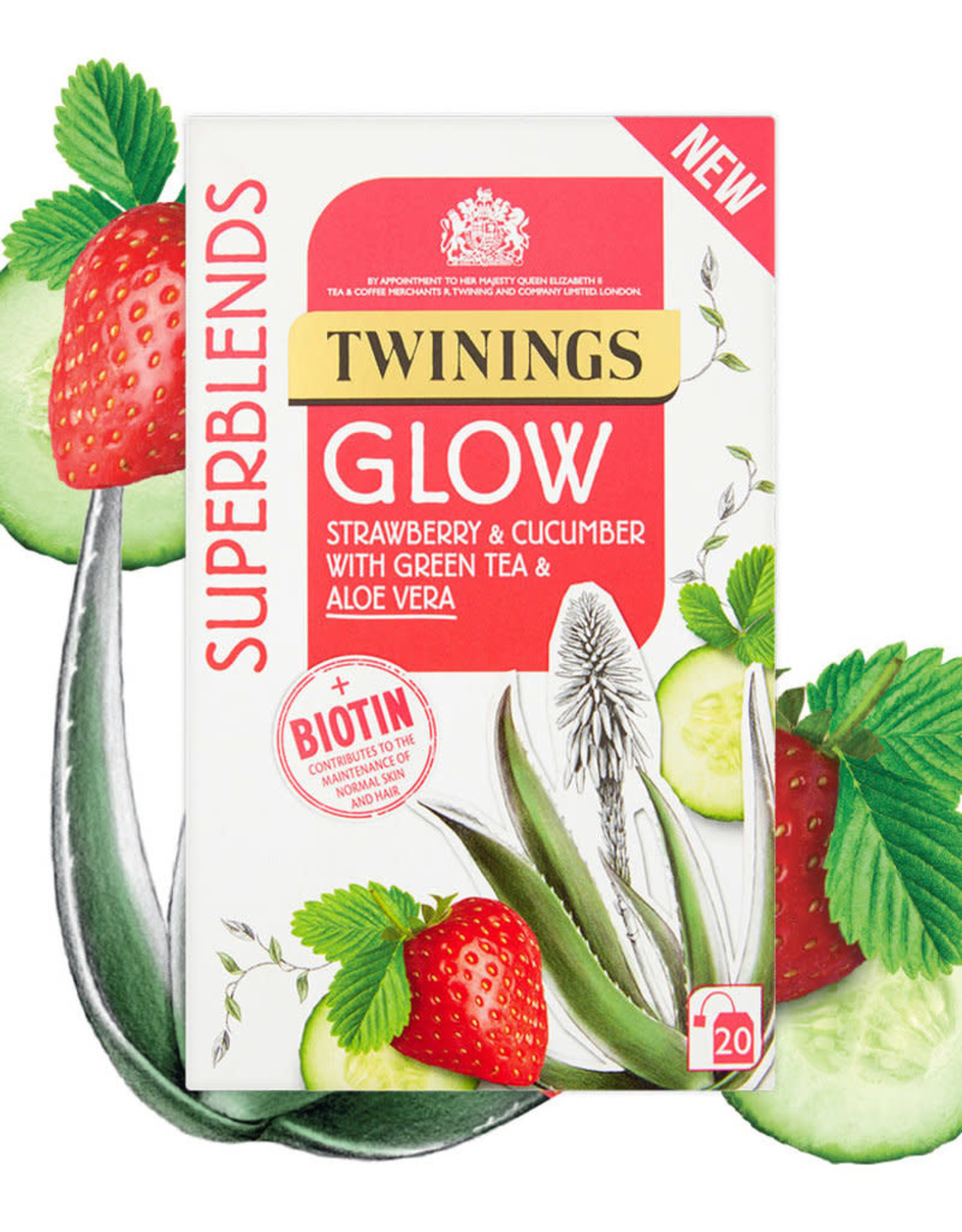 Twinings Twinings Glow Strawberry & Cucumber 20's
