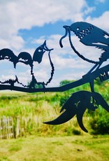 Metalbird Metalbird Winterkoning met jongen