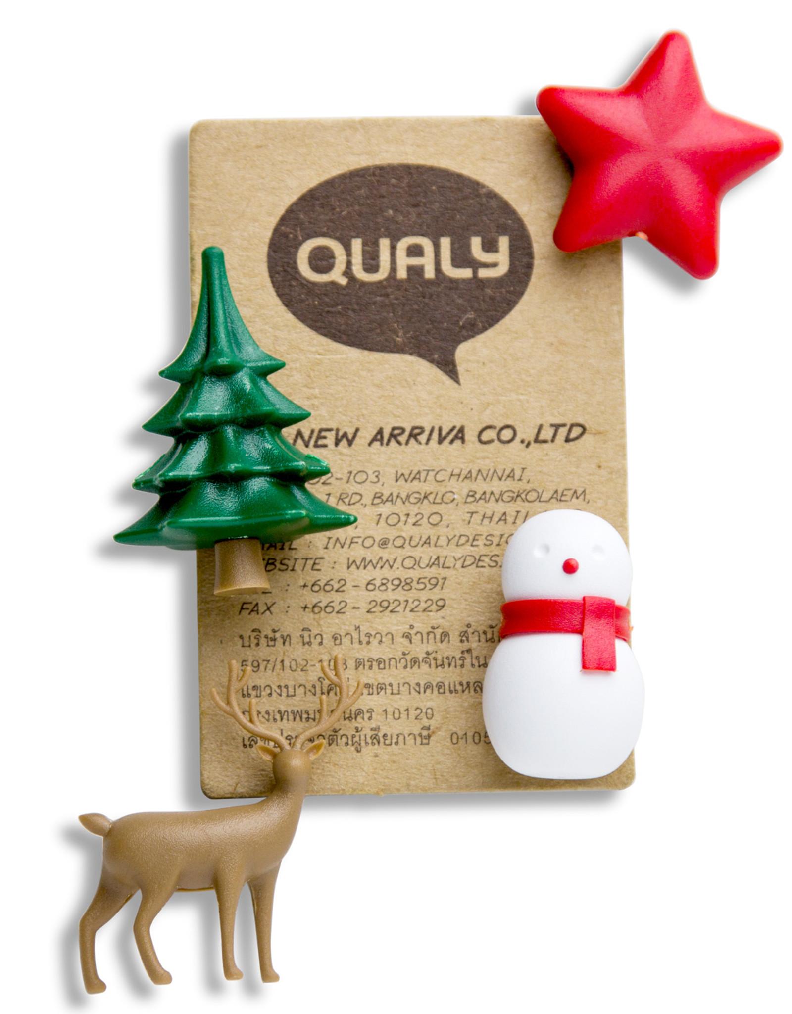 Qualy Winter Wonder Magneten 4 stuks