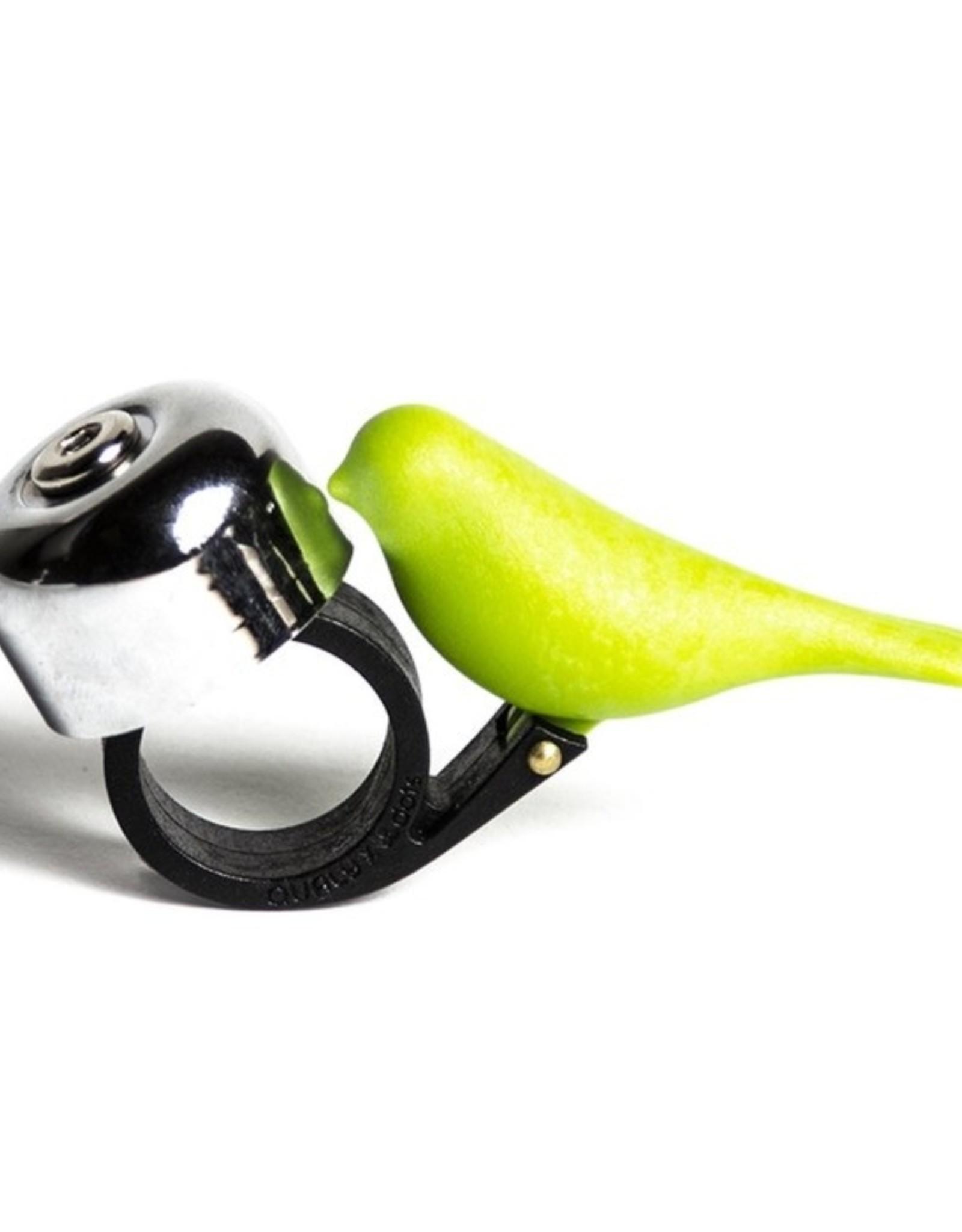 Qualy Fietsbel Vogel Groen